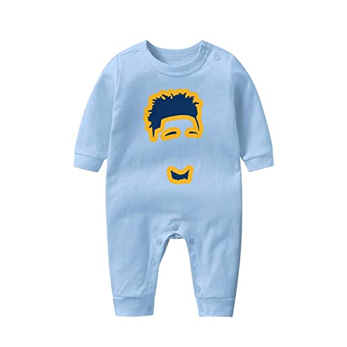 DaigMeng Lil Skies Baby Boy Baby Girl Jumpsuit Cotton Jumpsuit Baby Crawler Long Sleeve Jumpsuit Black
