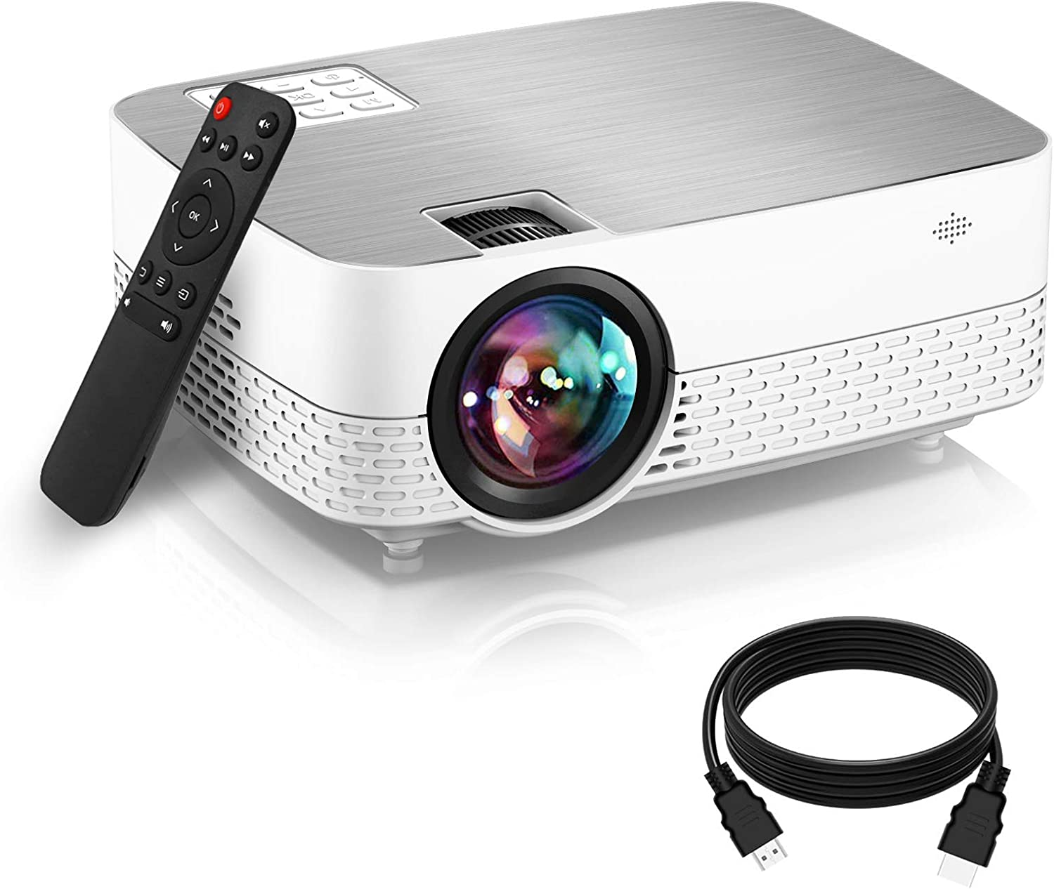 Buy Movie Projector,20 Lumens 20P Supported HiFi Speaker for ...