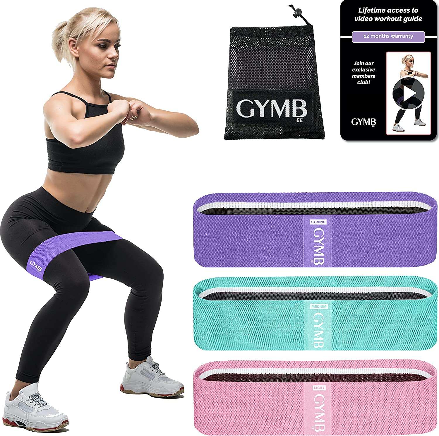 Buy GYMB Booty Bands for Women Butt and Legs   Non Slip Resistance ...