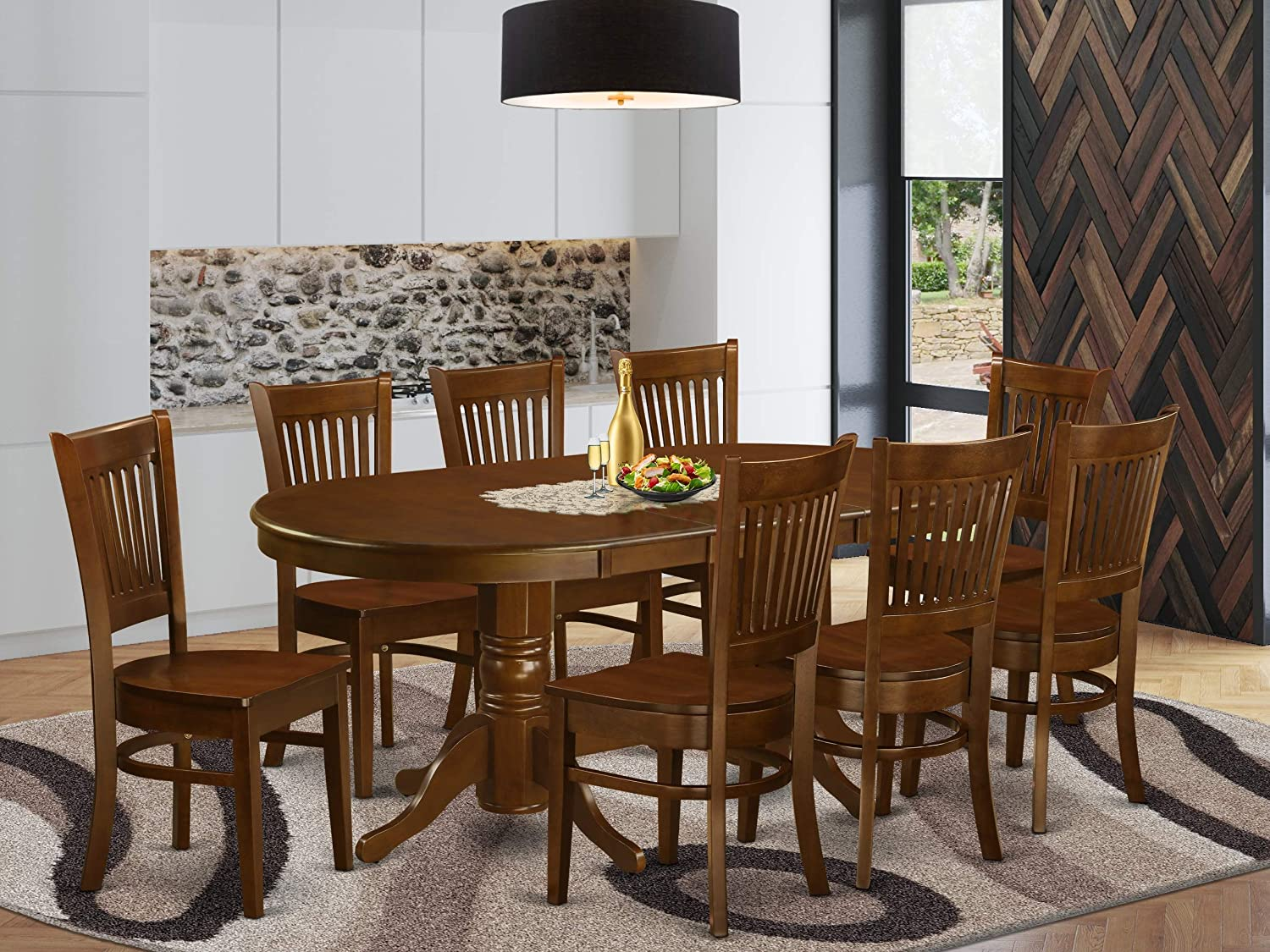 9 Pc Dining Room Set For 8 Table, Dining Room Set For 8